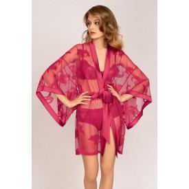 Роскошный халат-кимоно свободного силуэта из французского кружева